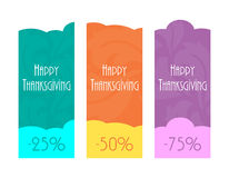 Happy Thanksgiving labels Royalty Free Stock Images