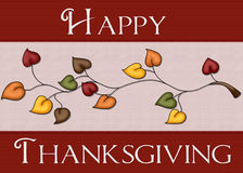 Happy Thanksgiving Leaves Card. This elegant looking card could also be used for web purposes stock illustration