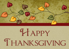 Happy Thanksgiving Leaves Card. This could be use for printing your own greeting card or for a website entrance background royalty free illustration