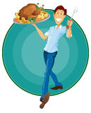 Happy Thanksgiving Man Stock Photography