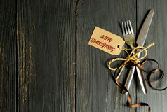 Happy thanksgiving meal background stock images