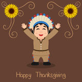 Happy Thanksgiving - Native Man Smiling Royalty Free Stock Image