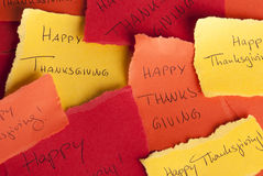 Happy Thanksgiving Notices Stock Images