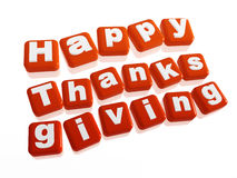 Happy thanksgiving in orange blocks Stock Photo