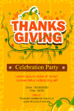 Happy Thanksgiving Party invitation background Stock Photos