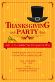 Happy Thanksgiving Party invitation background Royalty Free Stock Image