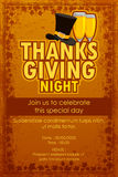 Happy Thanksgiving Party invitation background Stock Images
