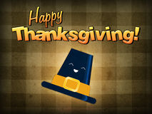Happy thanksgiving, pilgrim hat Stock Photos