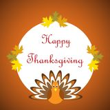 Hand drawn Happy Thanksgiving poster Stock Photo