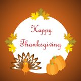Hand drawn Happy Thanksgiving poster Royalty Free Stock Photos