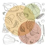 Happy Thanksgiving set. Of elements for design. Vector illustration Stock Photo