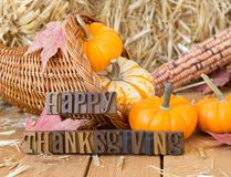 Happy Thanksgiving Sign stock image