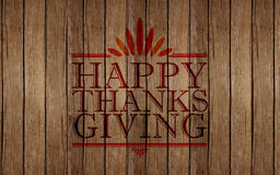 Happy thanksgiving sign Royalty Free Stock Photo