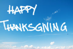 Happy thanksgiving in the sky Royalty Free Stock Image