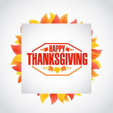 Happy thanksgiving stamp cube Royalty Free Stock Photo