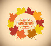Happy thanksgiving stamp illustration Royalty Free Stock Photo