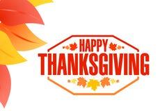 Happy thanksgiving stamp illustration Stock Photos