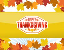 Happy thanksgiving stamp illustration Stock Images