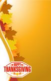 Happy thanksgiving stamp illustration Royalty Free Stock Photography