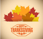 Happy thanksgiving stamp illustration Royalty Free Stock Images