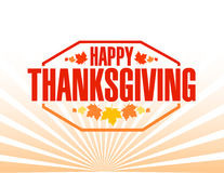 Happy thanksgiving stamp illustration sign Royalty Free Stock Images