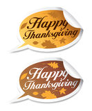 Happy Thanksgiving stickers. Stock Images