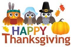 Happy Thanksgiving theme 2. Eps10 vector illustration Stock Photos