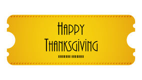 Happy Thanksgiving ticket Royalty Free Stock Photography