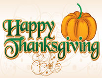 Happy Thanksgiving Title Stock Images