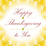 Happy thanksgiving to you. Banner background Royalty Free Stock Images