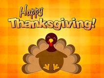 Happy thanksgiving turkey. Happy thanksgiving, turkey smiling illustration Royalty Free Stock Images