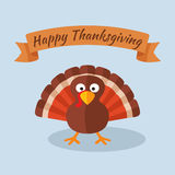 Happy Thanksgiving with Turkey Stock Images
