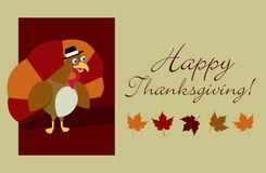 Happy Thanksgiving Turkey Royalty Free Stock Photos