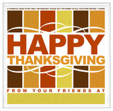 Happy Thanksgiving typography Royalty Free Stock Images