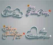 Happy Thanksgiving vector illustration Stock Photography