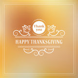 Happy Thanksgiving. Vintage calligraphic elements Design for Happy Thanksgiving celebration. Typographic frame can be use as flyer Stock Photos