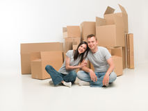 Happy with their new home Royalty Free Stock Photo