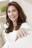 Happy Thirties Woman at Home Stock Photography