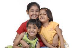 Happy three children Royalty Free Stock Photo