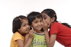 Happy three children Stock Images