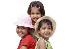Happy three children Stock Images
