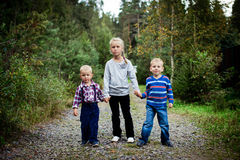 Happy Three children Royalty Free Stock Photos