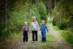 Happy Three children Stock Photography
