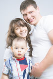 Happy three family members together Royalty Free Stock Photography