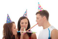 Happy three friends Royalty Free Stock Photos