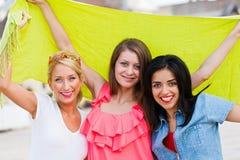 Happy Three Friends Royalty Free Stock Photos