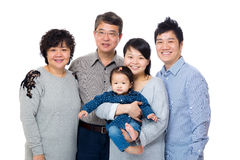 Happy three generation asian family Royalty Free Stock Photos