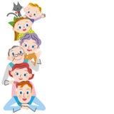 Happy three-generation family Royalty Free Stock Photos