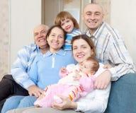 Happy three generations family Royalty Free Stock Photography