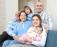 Happy three generations family Royalty Free Stock Photos